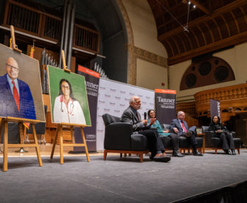 Robert Shetterly University Lecturer & Exhibition of Paintings In Schine Center Panasci Lounge 2018 Tanner Lecture with Dr. Mona Hanna-Attisha and Richard Bowen