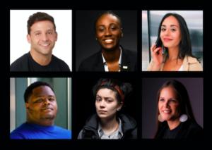 Six headshots of featured panelists